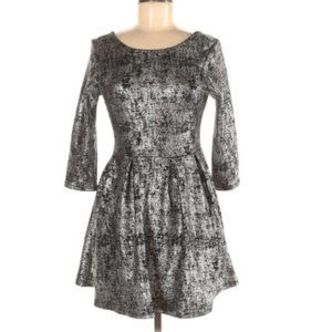 One clothing fit and flare metallic dress